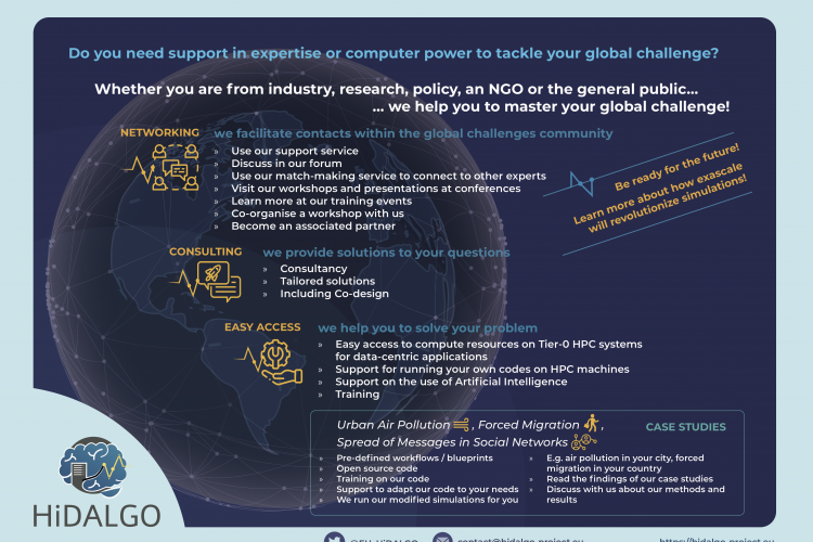 Do you need support in expertise or computer power to tackle your global challenge?