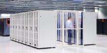 Man entering a data center