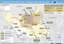 South Sudan Refugee Movement Map